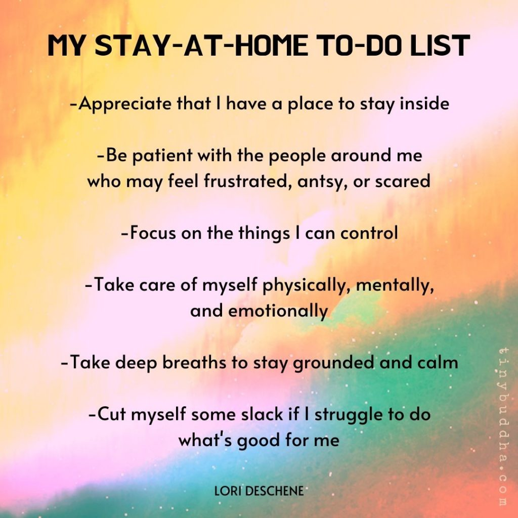My Stay At Home to Do List