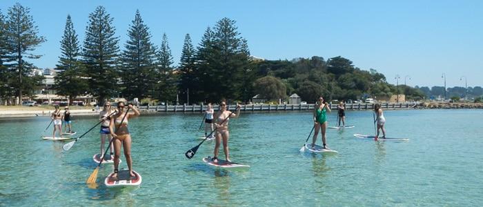 Paddle boarding in Sorrento, Mornington Peninsula