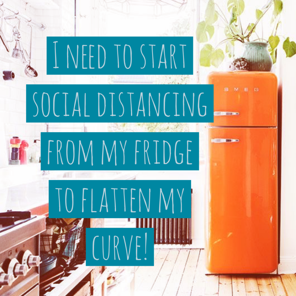 social distancing from your fridge