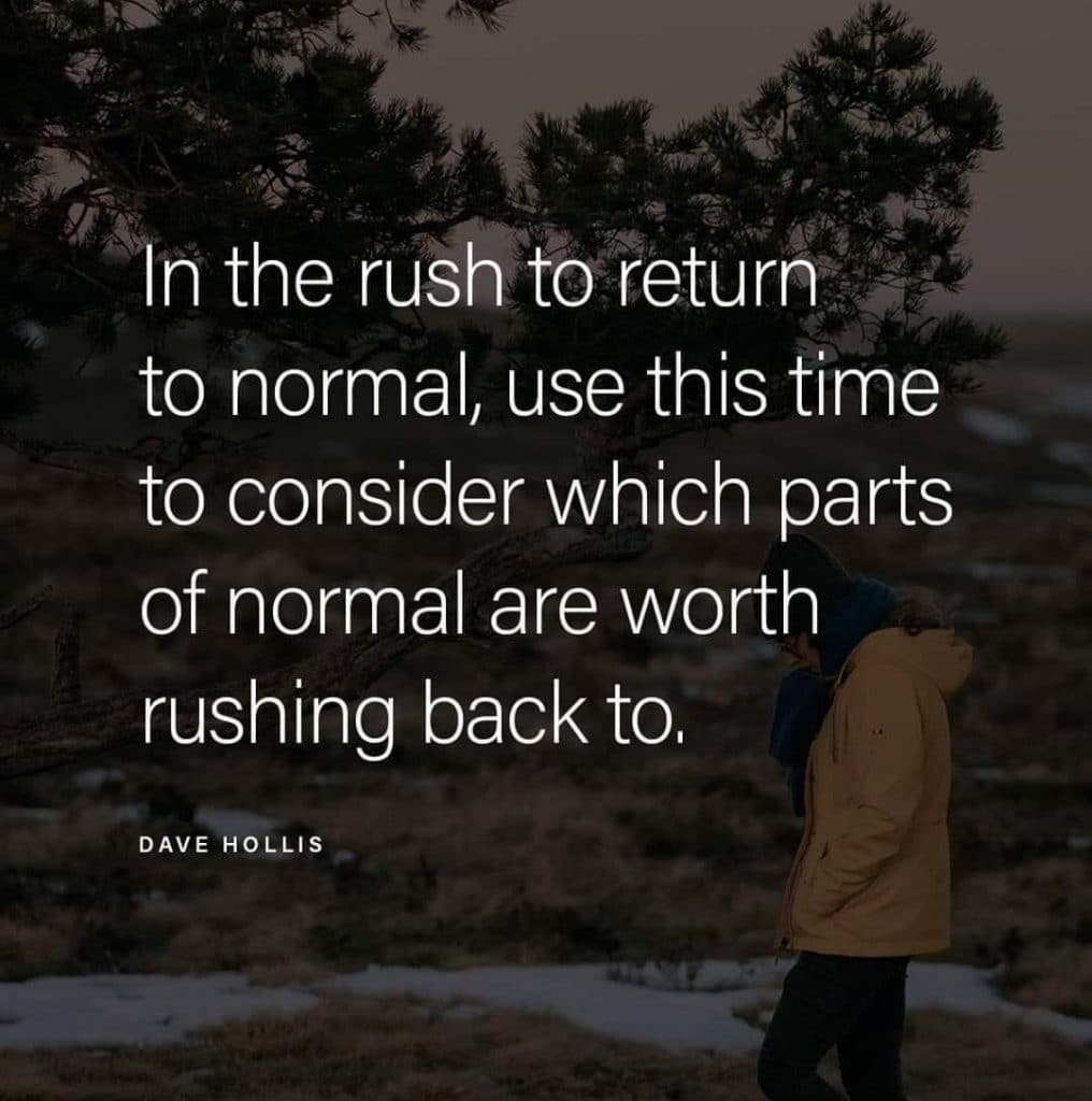 the rush to return to normal