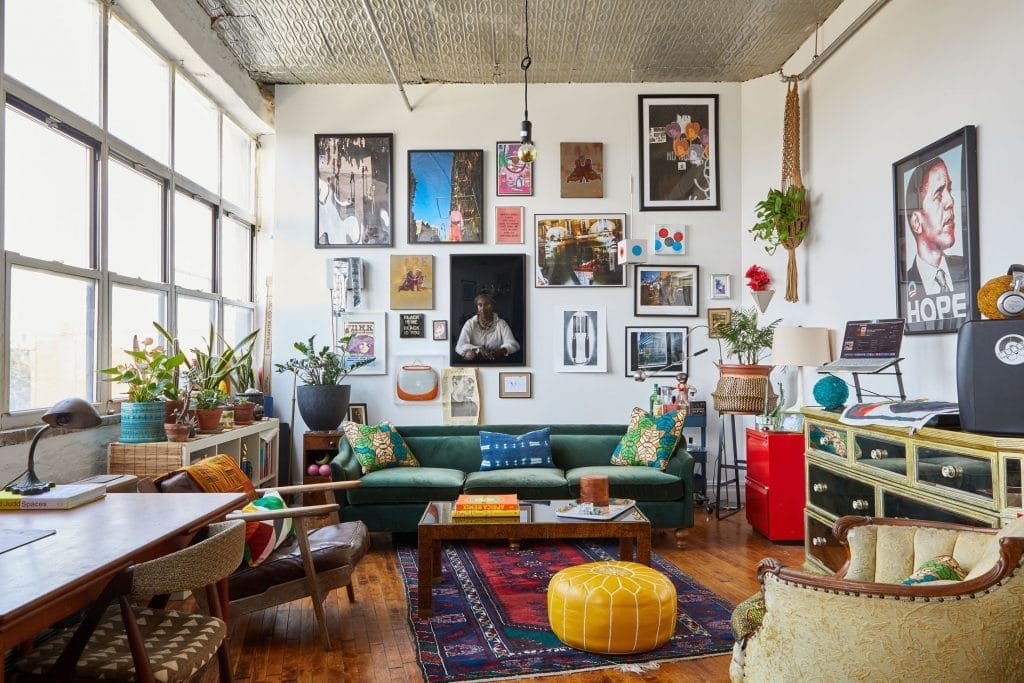Beautiful eclectic room