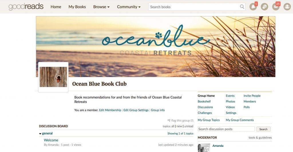 Ocean Blue Book Club and guilty pleasures