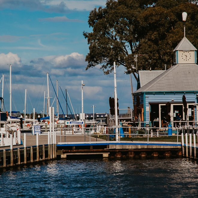 PAYNESVILLE, VICTORIA, AUSTRALIA - 10 SEPTEMBER 2013: The charming village of Paynesville is tourist hotspot on the Gippsland Lakes and is known as the boating capital of Victoria.